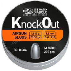 Пули JSB Knock Out Slugs 5.5 мм. 1.645 г. (200 шт.)